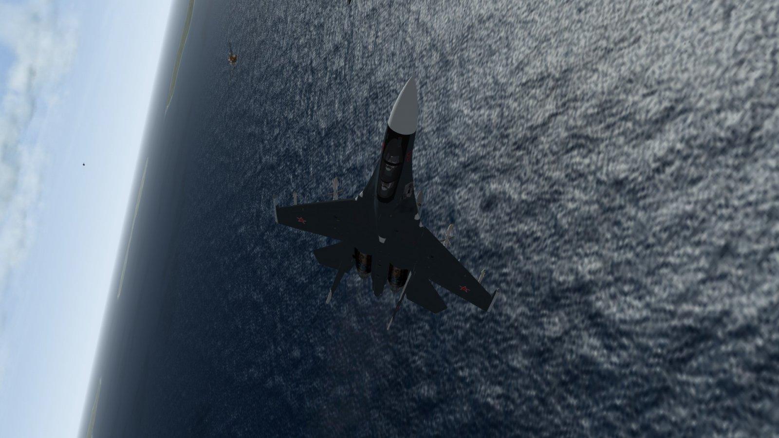 Dark Su-30 Against the Sea