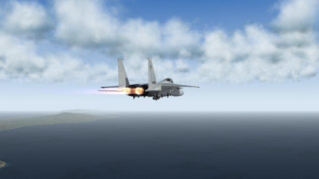 F-15J in Afterburners on Alert