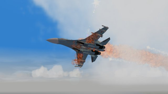 Flanker Bathed in Flames