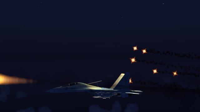 Su-30 Firing Missile & Flares