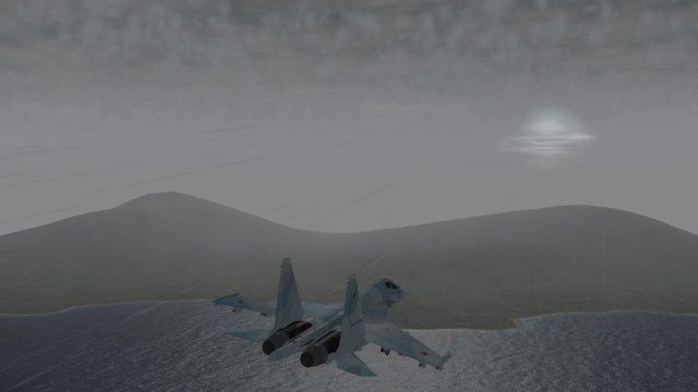 Su-30 Soaring Under the Thunderstorm