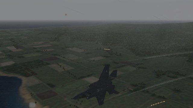 F-35A of JASDF Breaking Away