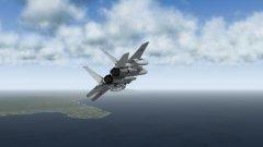 F-15J Turning Towards the Threat
