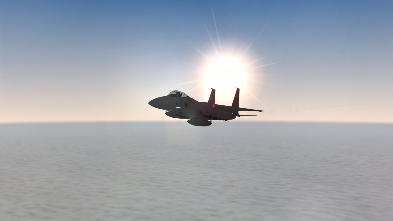 F-15J Eagle and the Low Sun