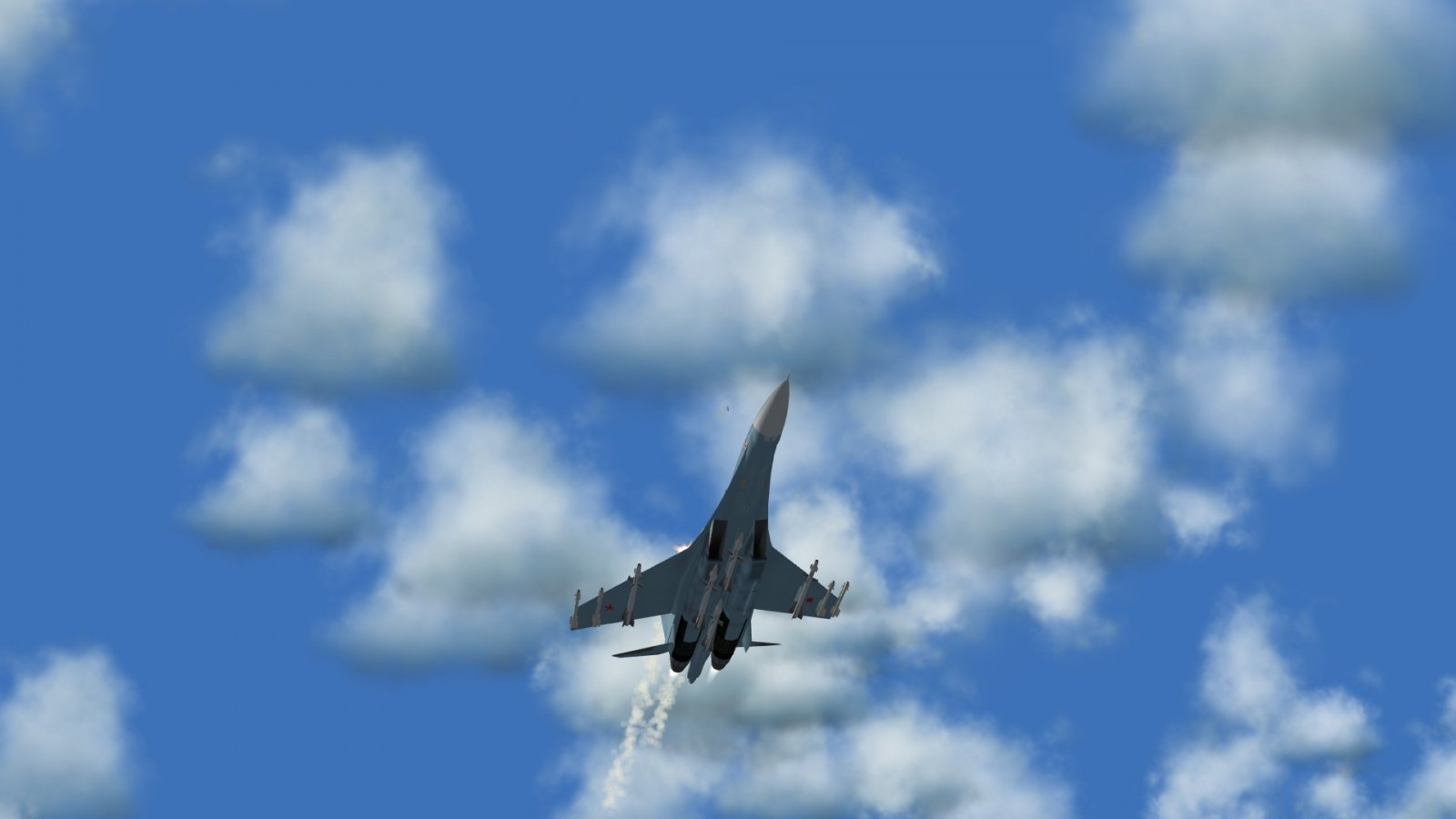Su-27 Flanker Putting Out Flares