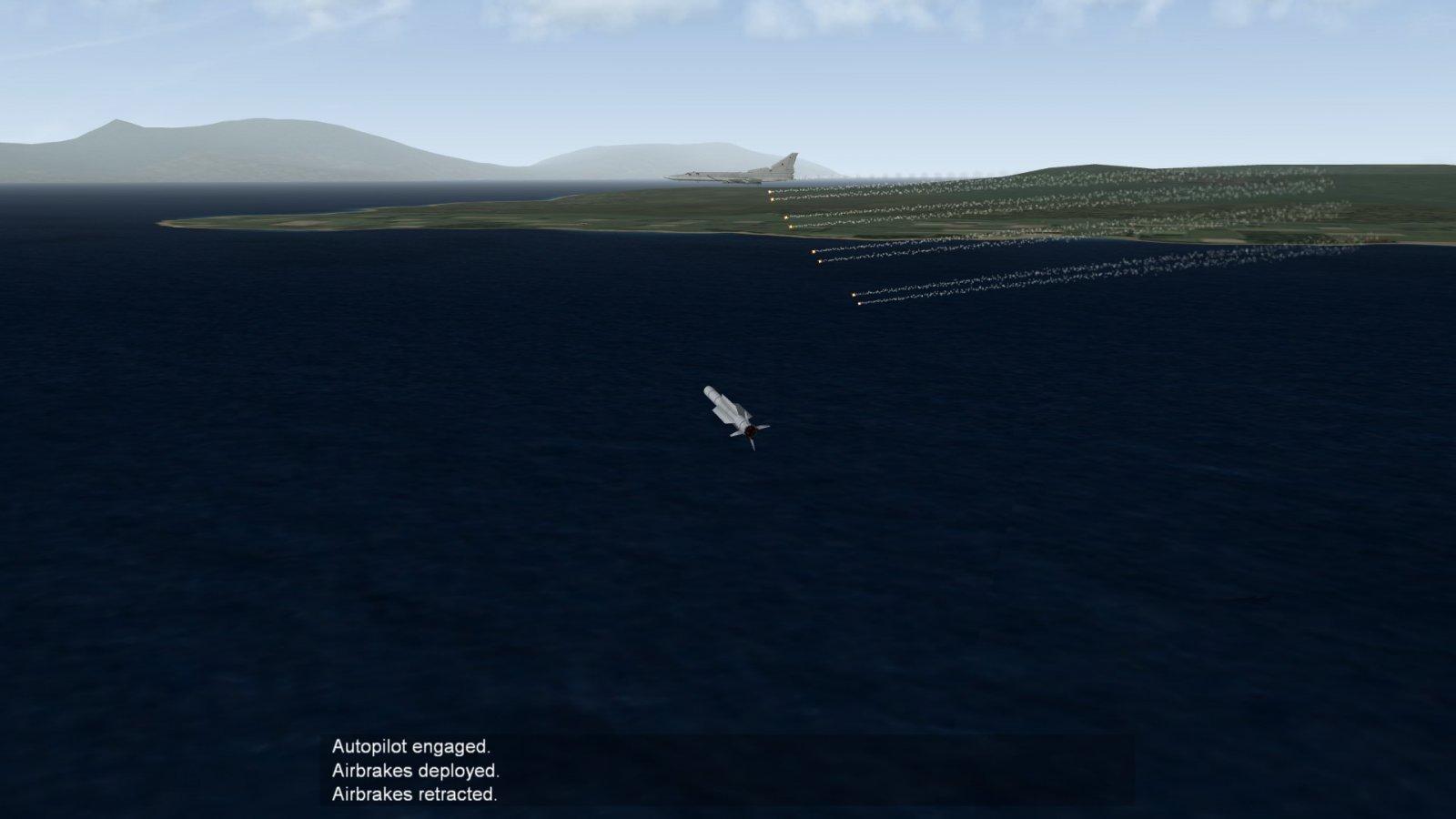 AAM-5 Racing to Backfire Bomber