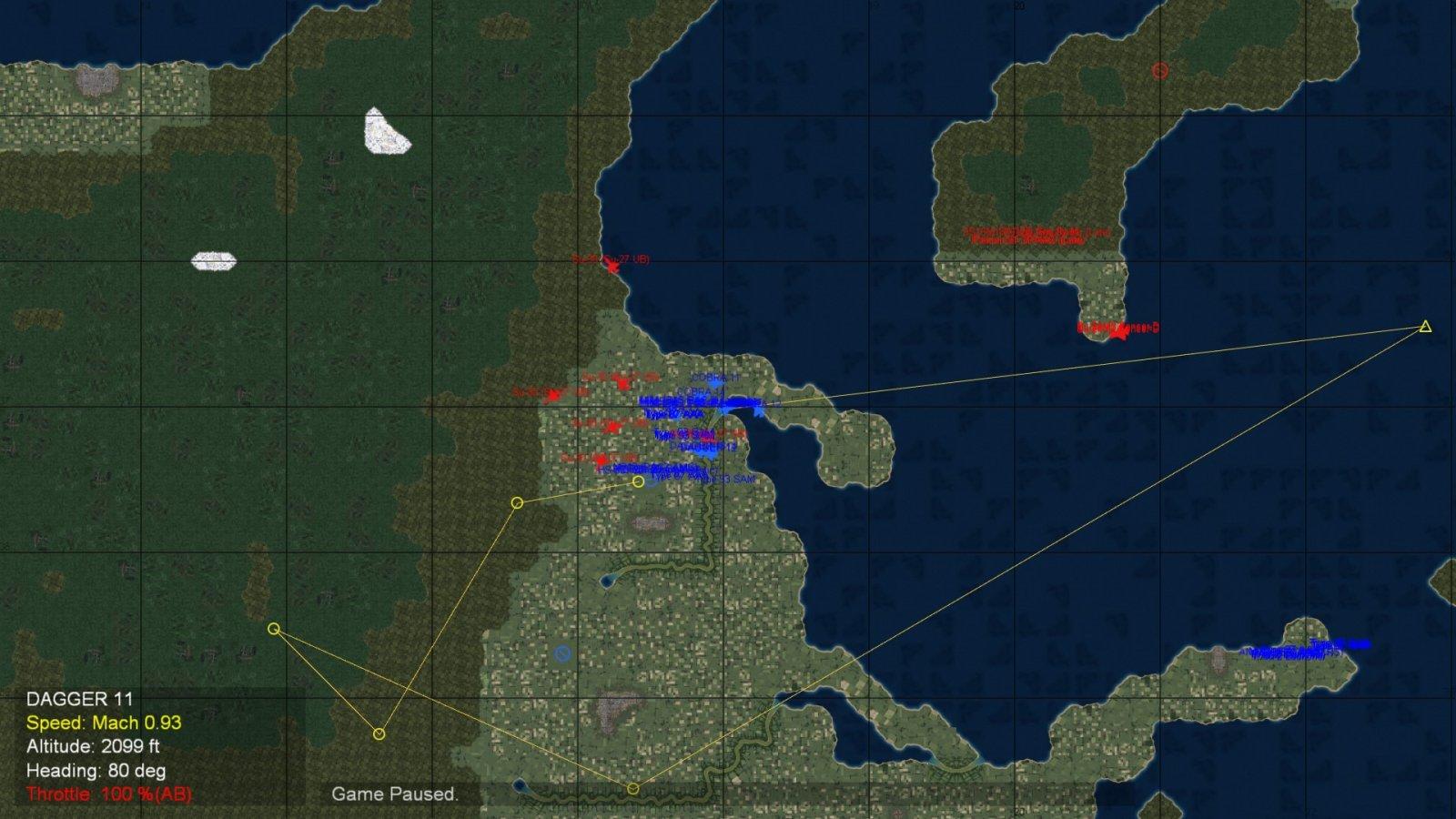 A Screenshot of A Tactical Map During the Russian Mass Retaliatory Strike