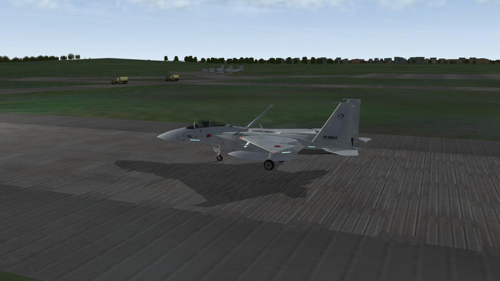 F-15J Safely Landed at Base