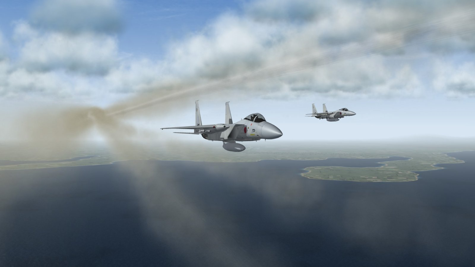 F-15J Pair After Lead Fires All Four AAM-4Bs