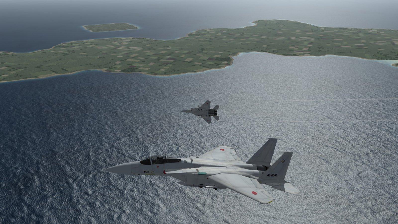 A JASDF F-15J Eagle Wingman Breaking Away