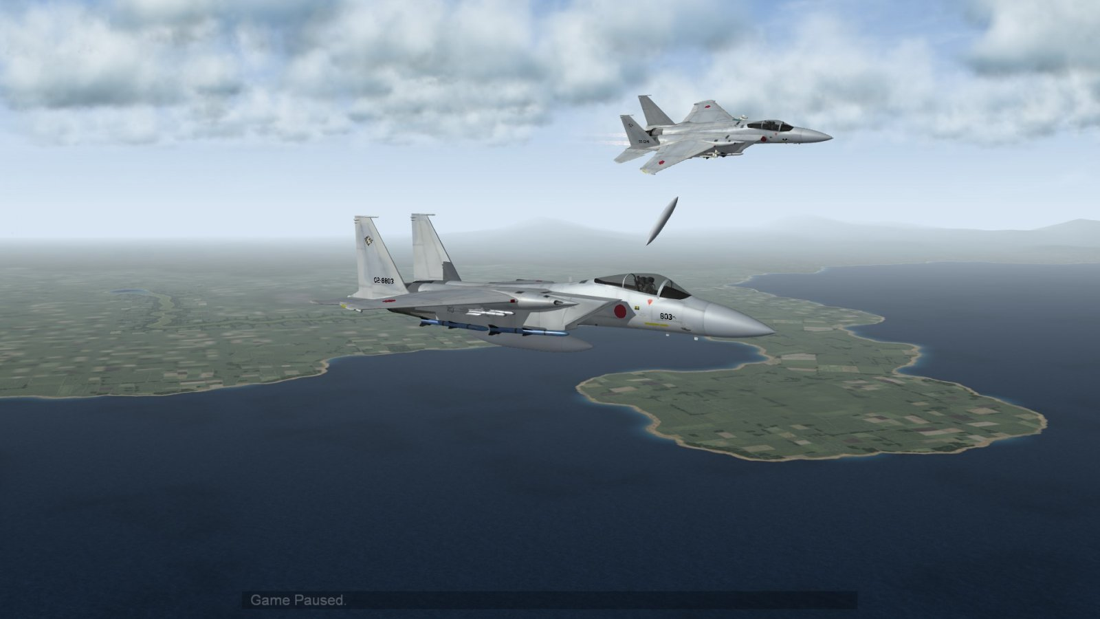 F-15J Eagle Breaking Away to Intercept