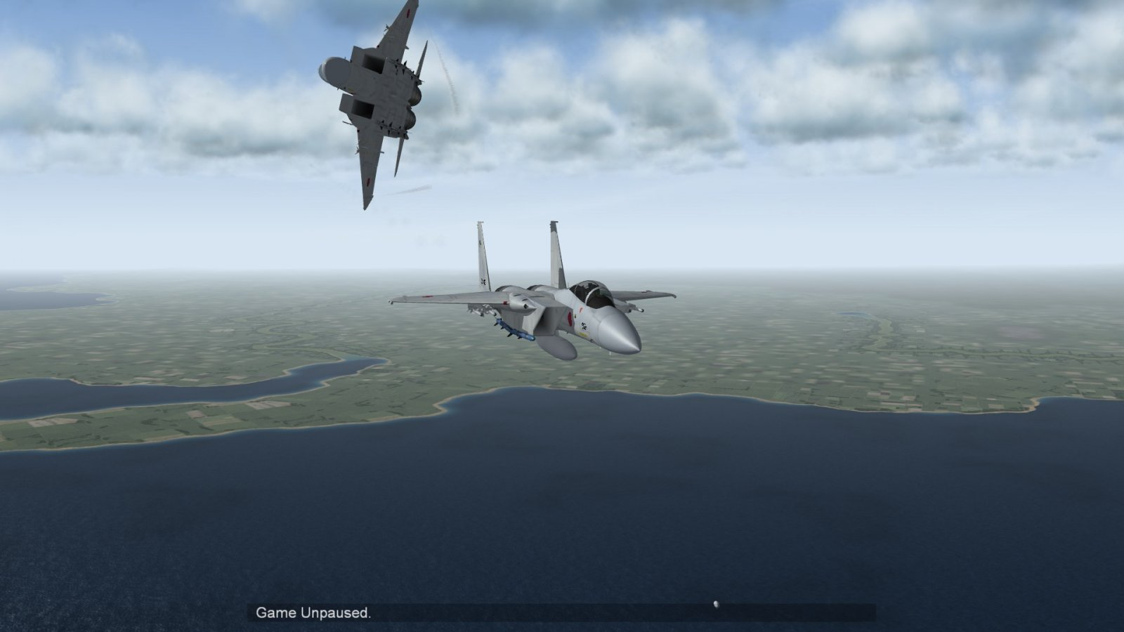 Head-On With F-15J Eagle Two Ship In the Break