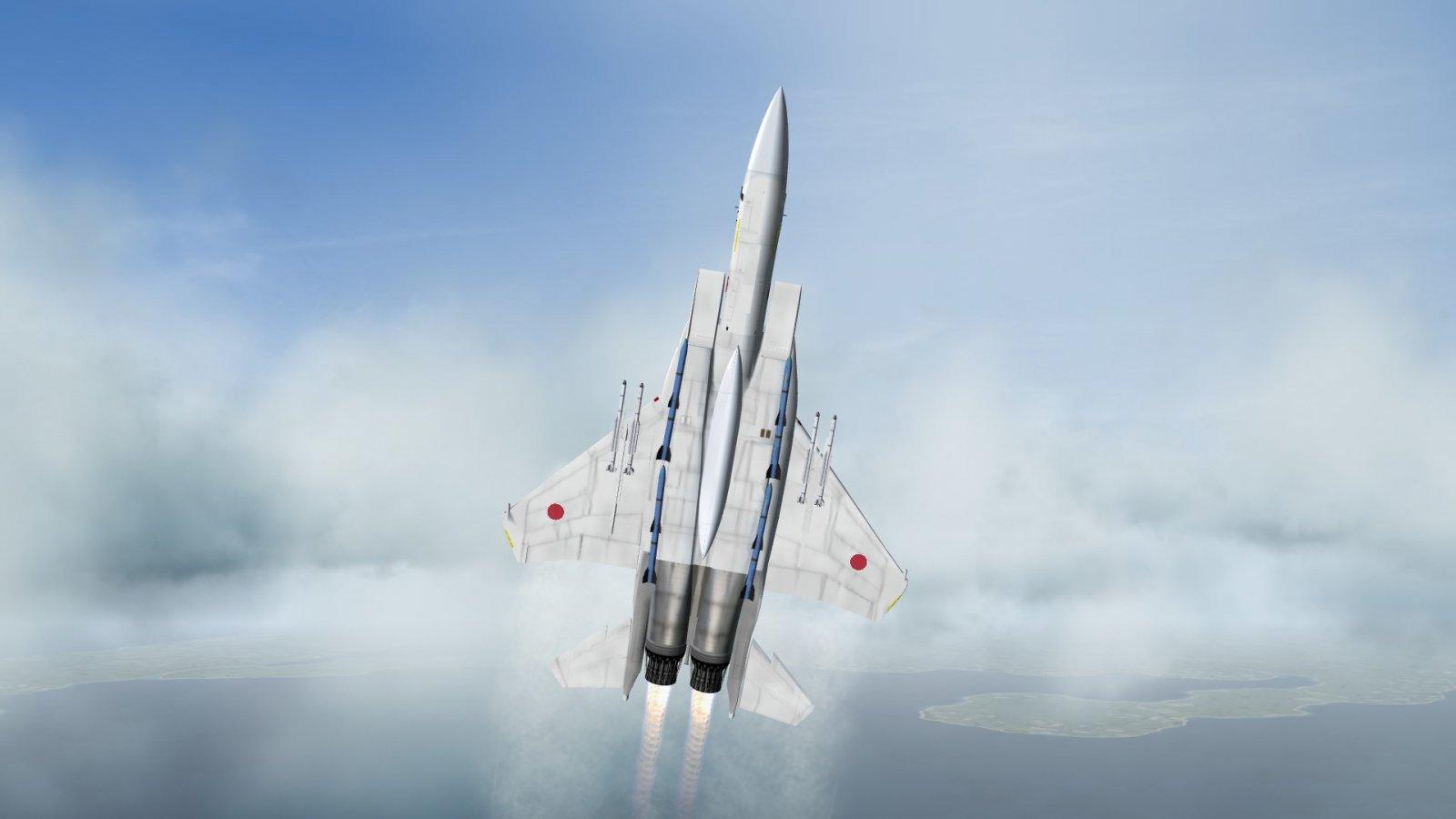 F-15J Eagle in Afterburner Screaming in the Vertical
