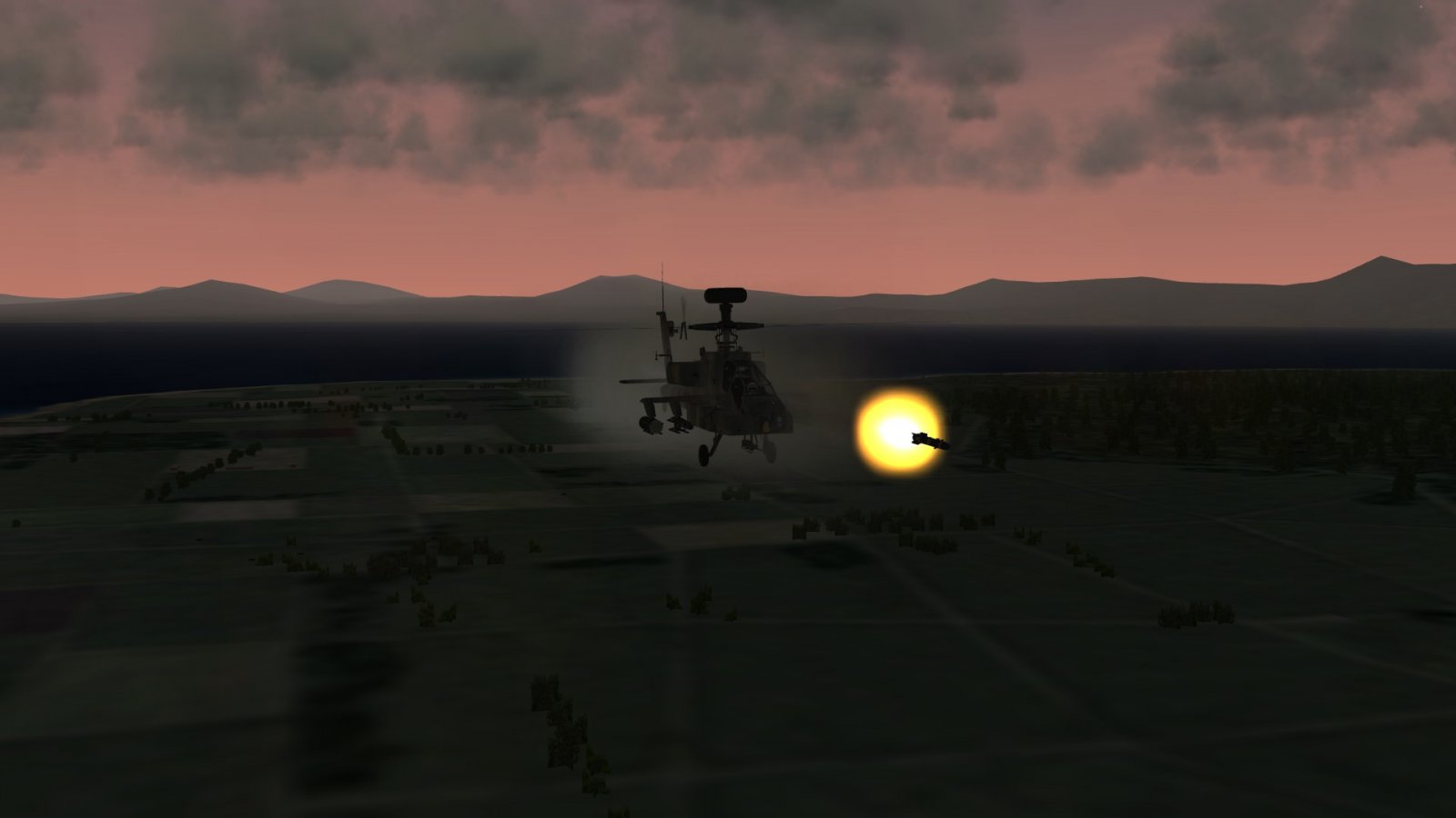 AH-64D Longbow Cooking Off A Hellfire