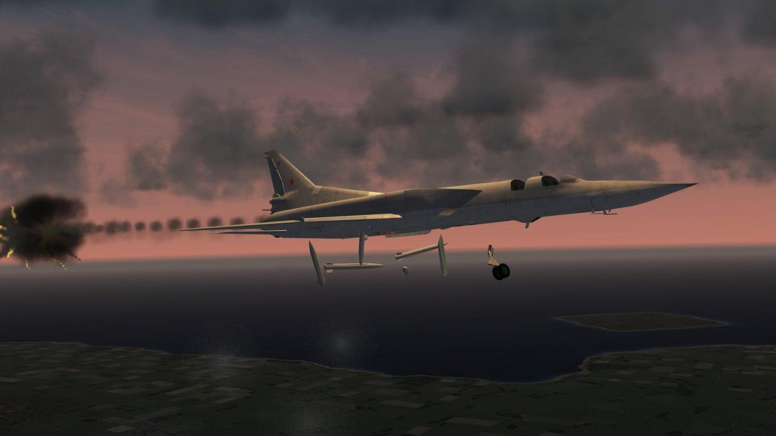 Tu-22M3 Hit By AAM-4B