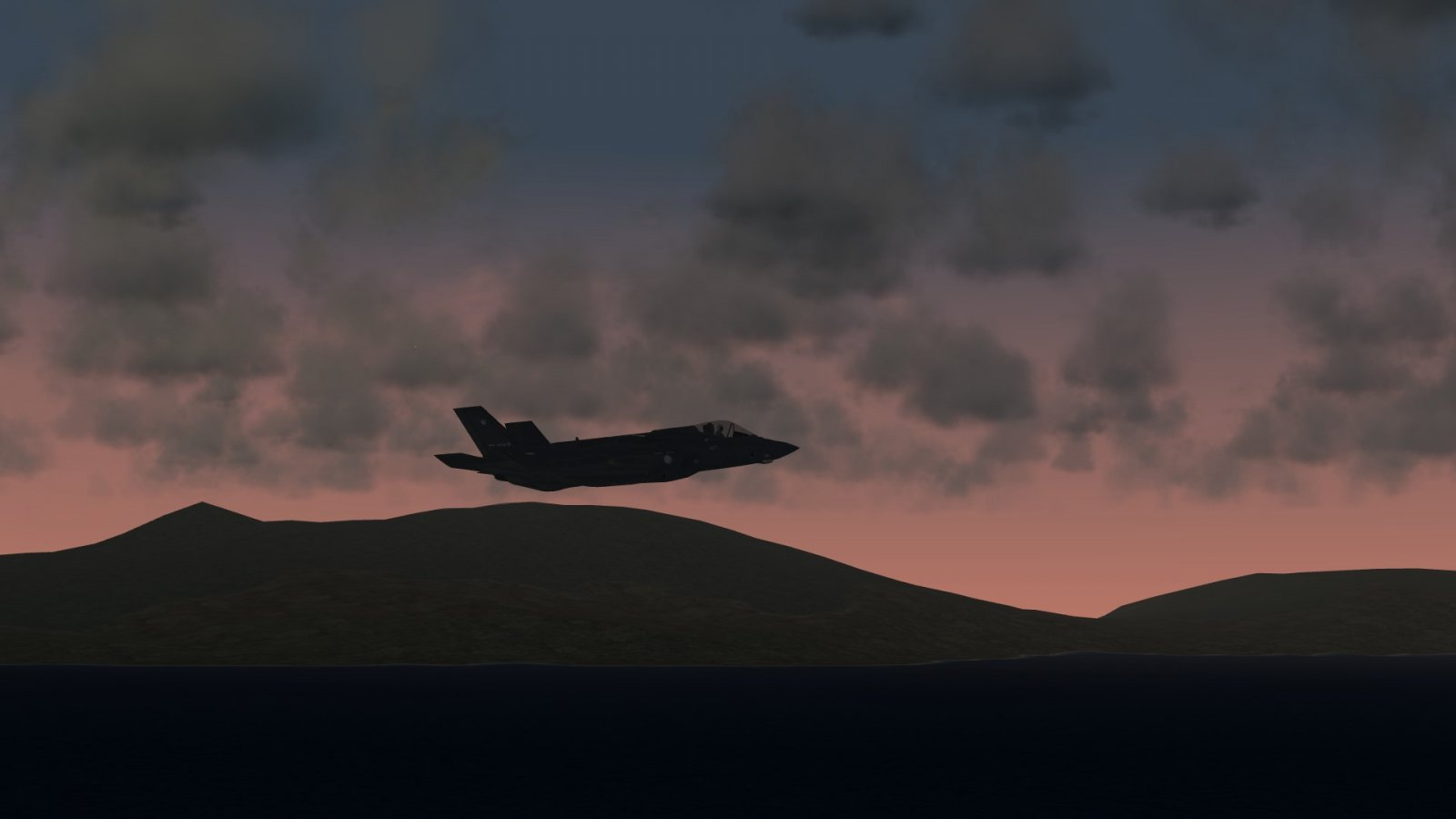 JASDF F-35A JSF in the Sunset Sky
