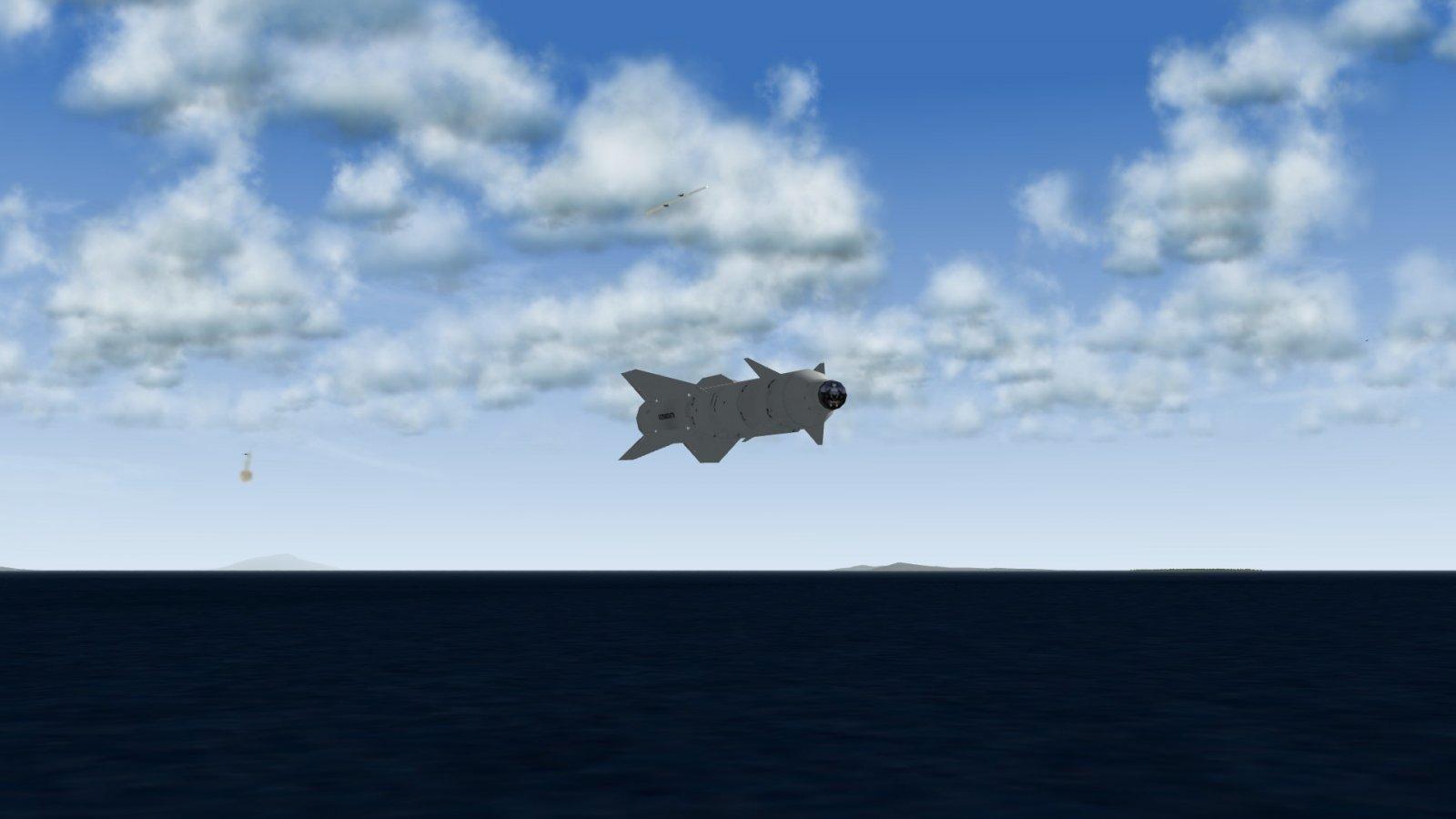 Kh-29TE Skimming the Waves