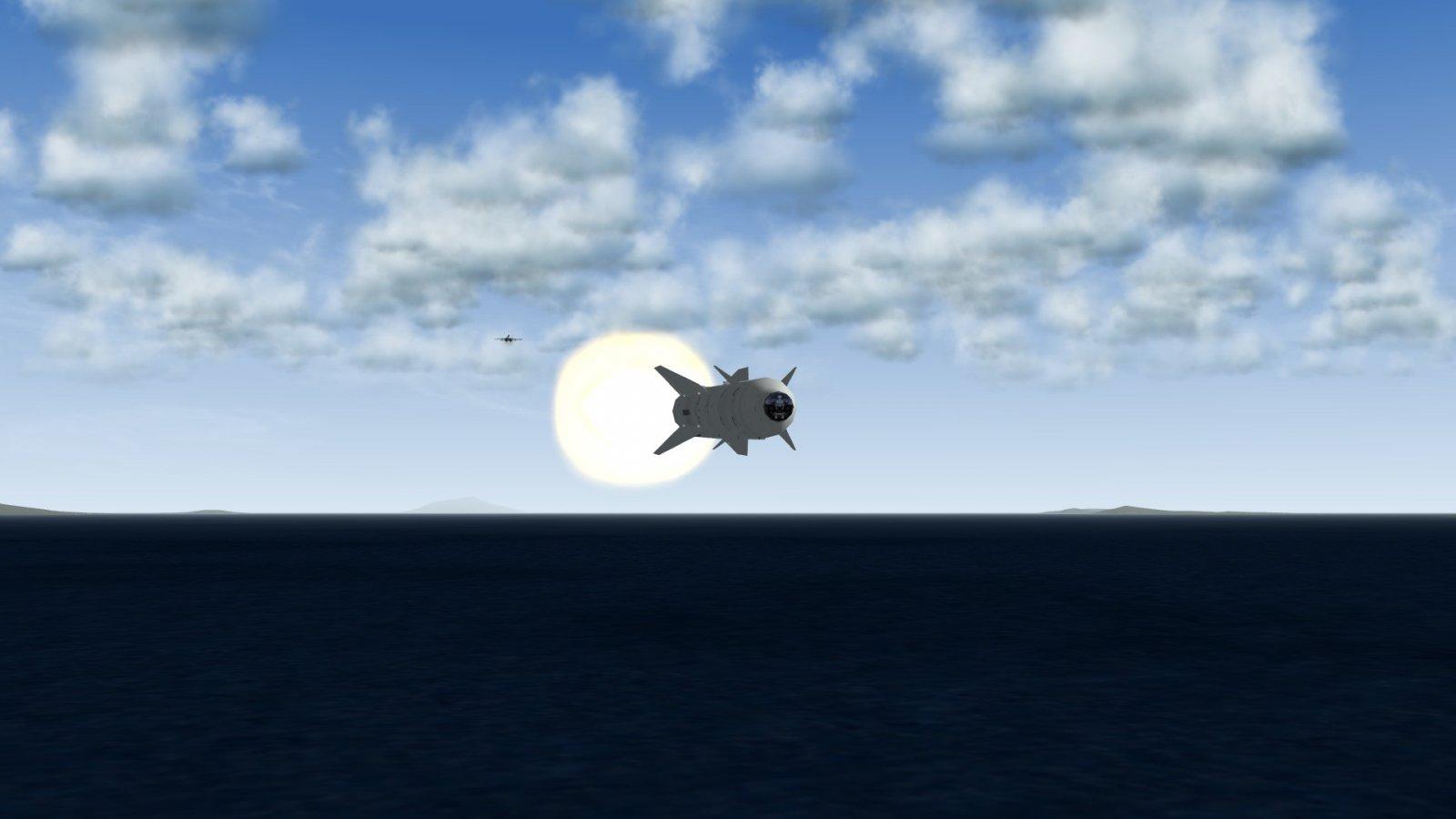 Kh-29TE In Flight