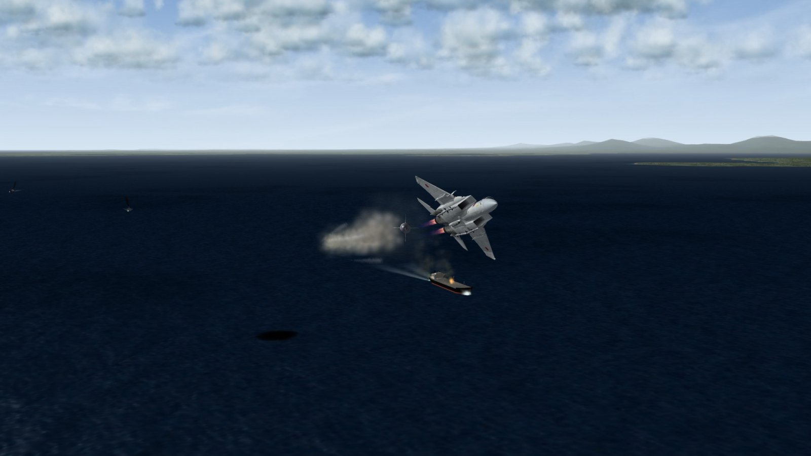 F-15J Firing Off AAM-5 1 - Nose-On
