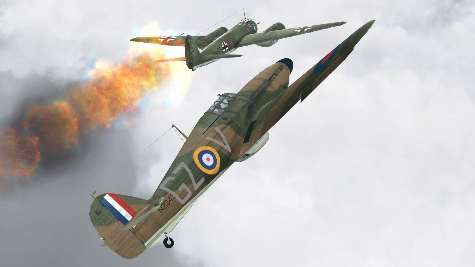 Battle of Britain II - Hurricane -v- Junkers 88
