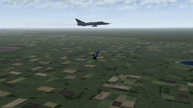AAM-4B Heading For Su-24 Fencer