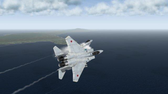 F-15J Eagles Breaking Away to Defend Japan Air Soverignity
