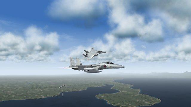 F-15J Eagle Wingman Breaking Right