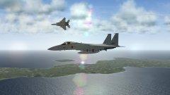 A F-15J Eagle Breaks Towards the Sun