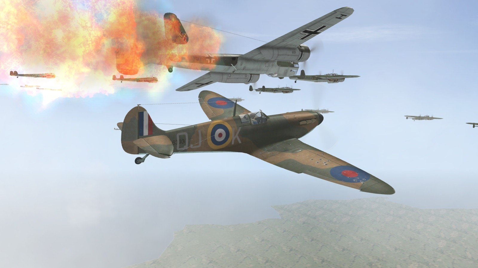 Battle of Britain II - 23 July 1940 - 92 Squadron intercepts Hostile 202