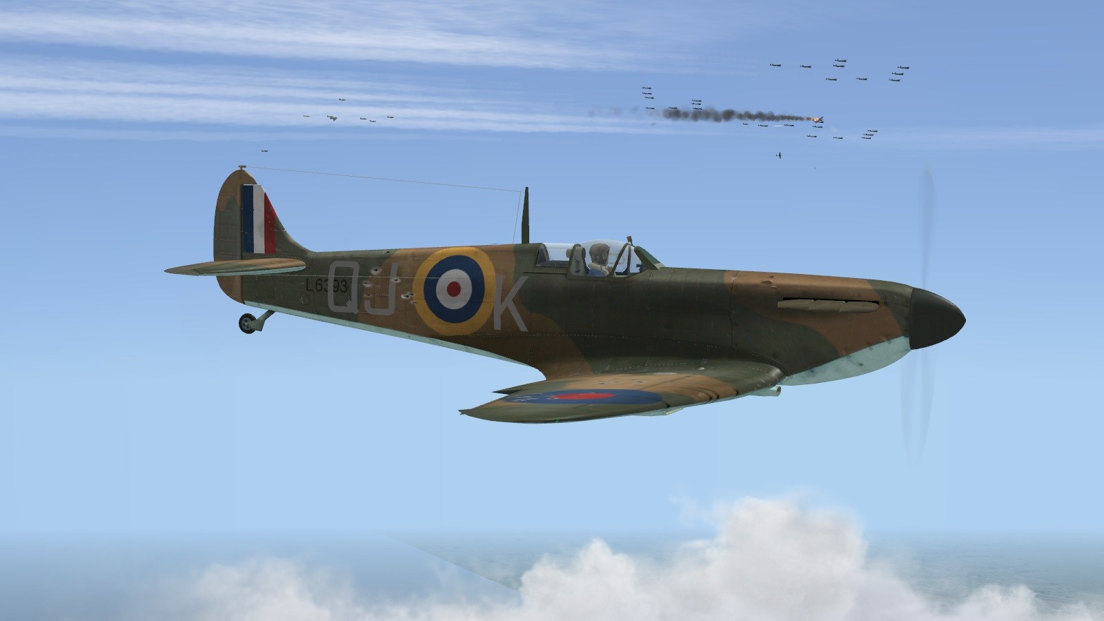 Battle of Britain II - 92 Squadron intercepts Hostile 202