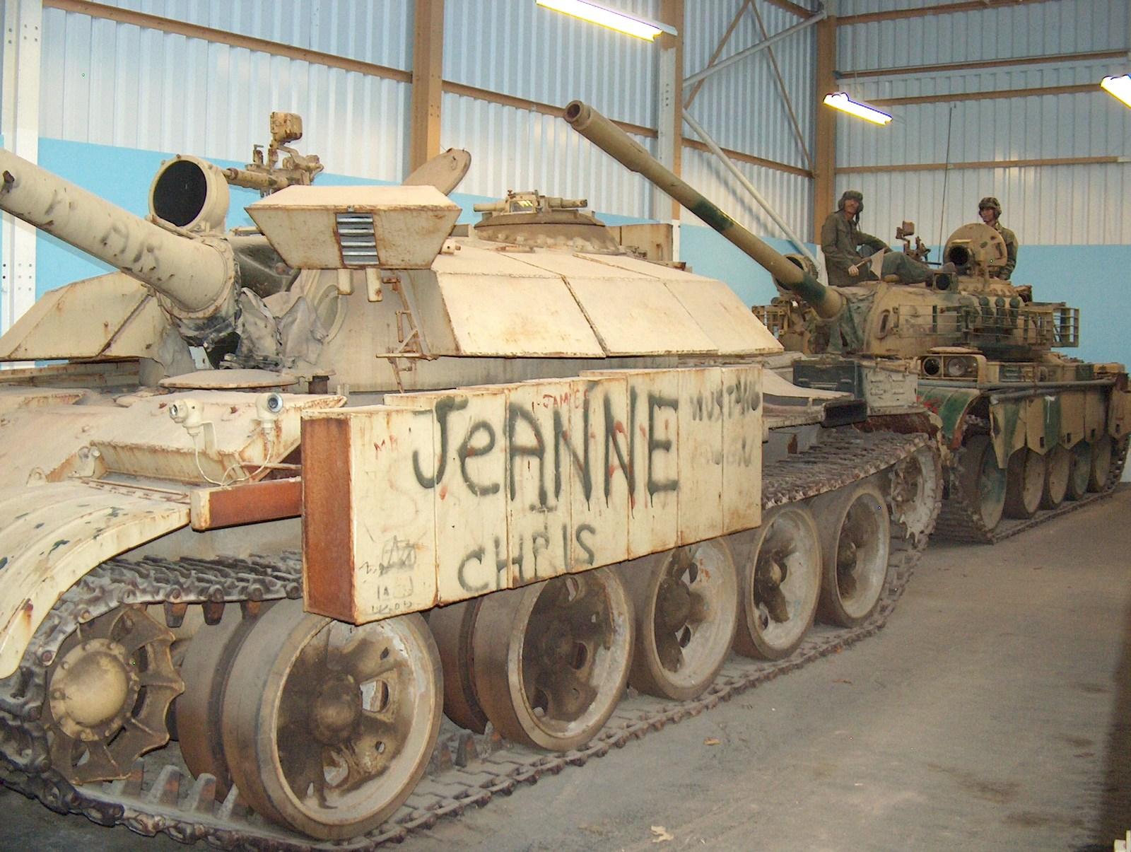 Gulf War booty - Iraqi T55s