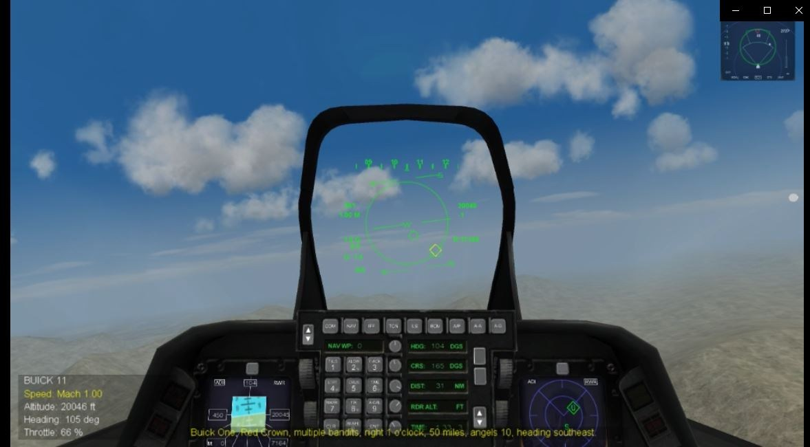 F-22 Cockpit from the Operation Darius Add-On