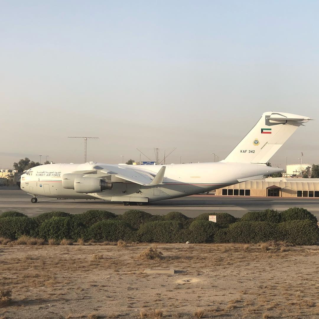 Kuwait air force transport and refueler