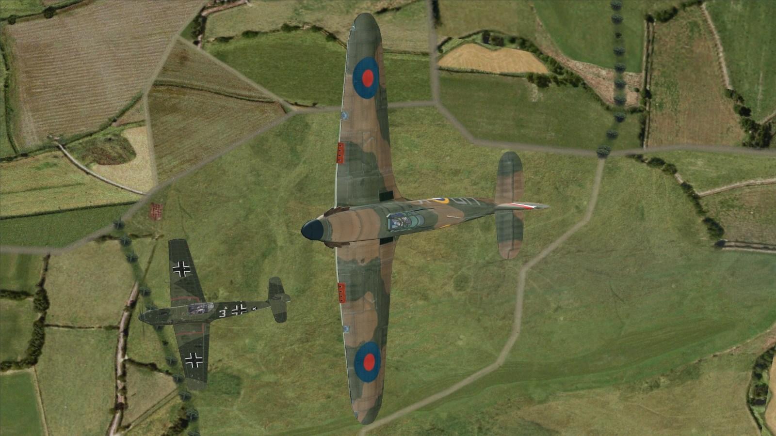 Battle of Britain II - 605 Sqn Hurricane -v- Bf109E