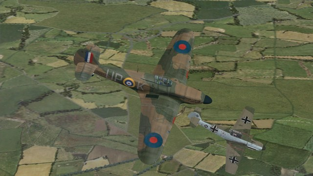 Battle of Britain II - 605 Sqn Hurricane -v- Bf109E