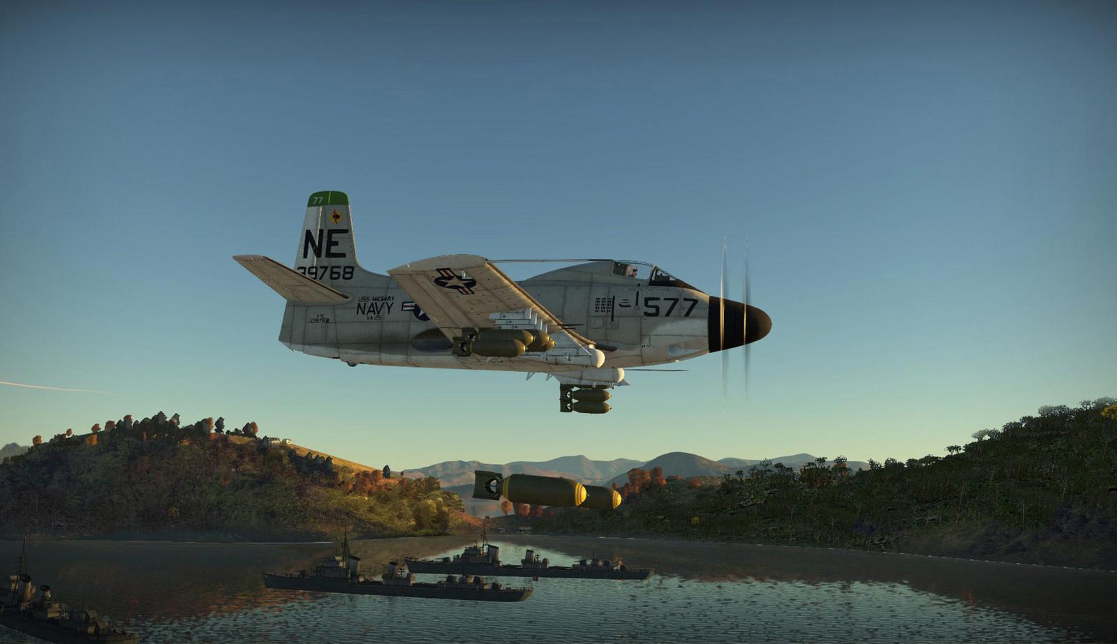 1965 Tonkin gulf. Bombs gone, on NVA's ships.