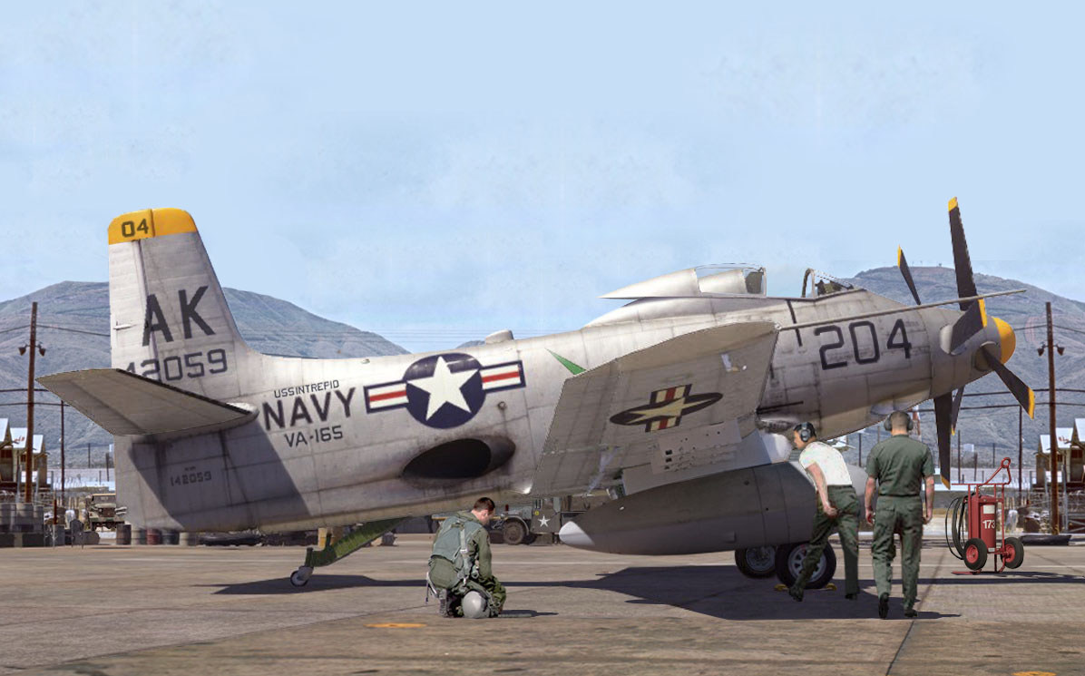 Da Nang AFB pre flight inspection for this A2D1