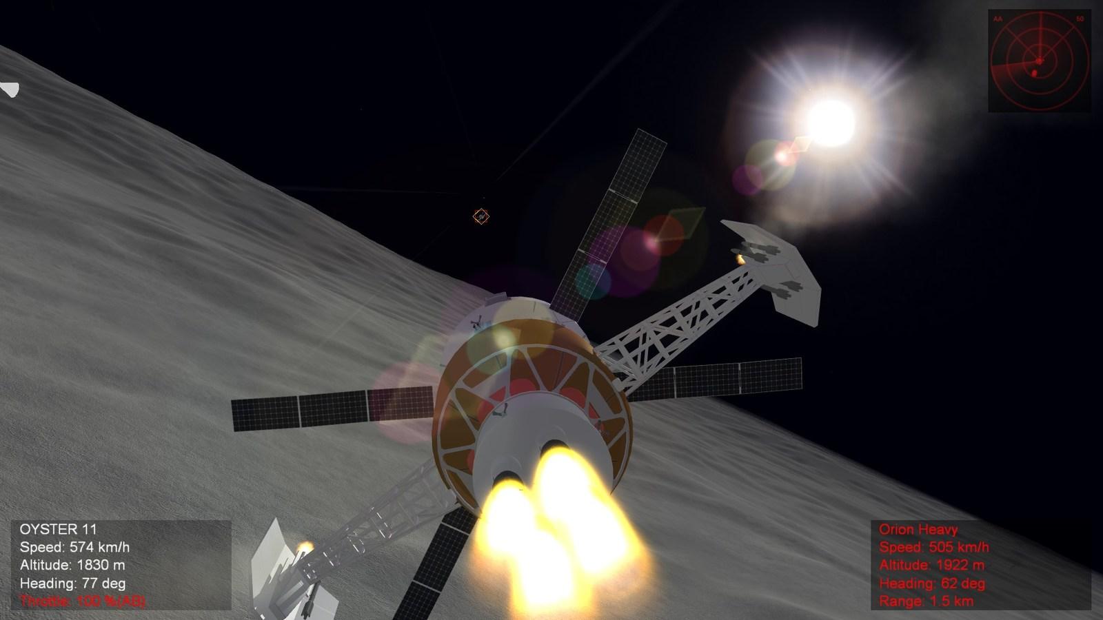 Space adapted guns firing