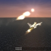 Su-15 and flares over Beiring Straits